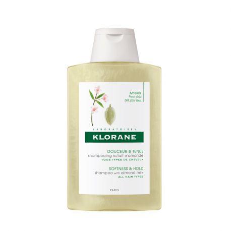 Volumizing shampoo Klorane em garrafa leite de amêndoa 200ML