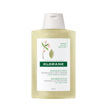 Volumizzante shampoo Klorane al Latte di Mandorla bottiglia 200ML