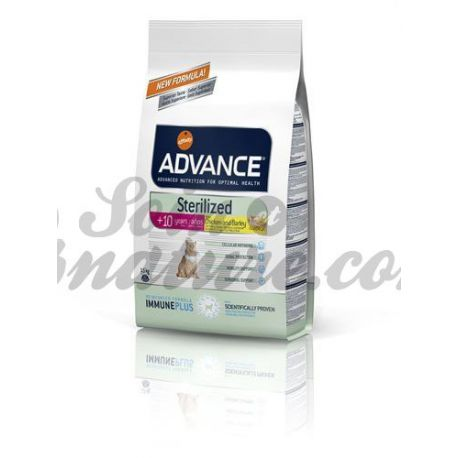 ADVANCE CHAT STERILIZED + DE 10 ANS SAC 1,5KG