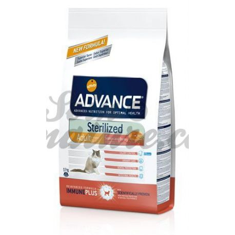 ADVANCE CHAT STERILIZED SAUMON SAC 1,5KG