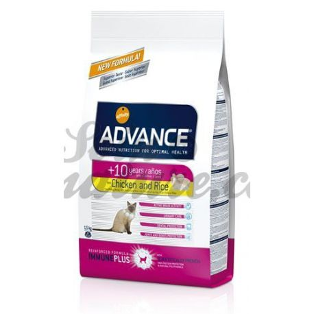 ADVANCE CAT CHAT SENIOR +10 sac 1,5kg