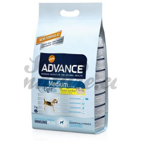 ADVANCE CHIEN MEDIUM LIGHT SAC 3 KG