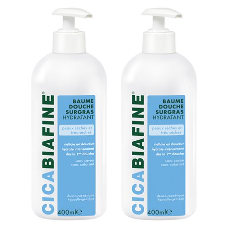 CICABIAFINE BAUME DOUCHE HYDRATANT SURGRAS LOT de 2 x 400ML