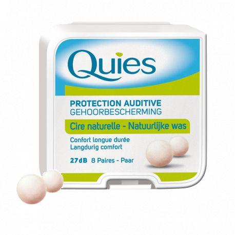 QUIES حماية السمع وWAX الطبيعي 8 أزواج