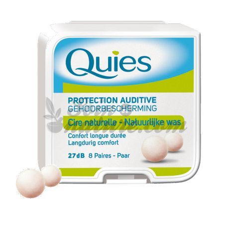 QUIES PROTECTION AUDITIVE A LA CIRE NATURELLE 8 PAIRES