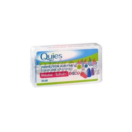 QUIES HEARING PROTECTION FOAM DISCO 3 PAIRS