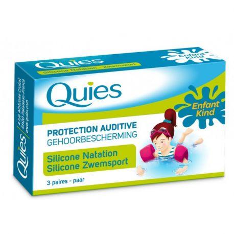 QUIES PROTECTION AUDITIVE NATATION ENFANT 3 PAIRES