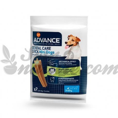 Scatola ADVANCE DOG DOG DENTAL CURA BASTONE MINI 7 Stick 13 g