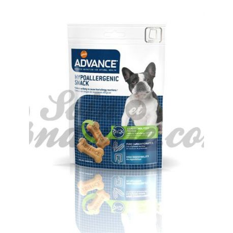 ADVANCE VETERINARY DIETS CHIEN HYPOALLERGENIC SNACK SAC 150G