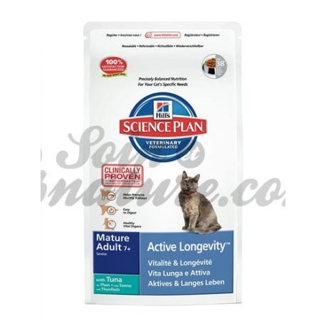 HILL'S SCIENCE PLAN FELINE MATURE (+7ans) ACTIVE LONGEVITY THON sac 2 kg
