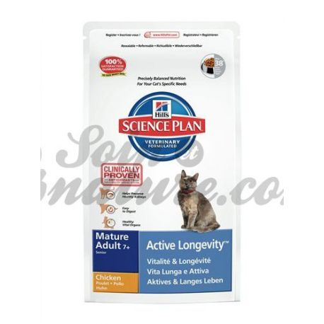 HILL'S SCIENCE PLAN FELINE MATURE (+7ans) ACTIVE LONGEVITY POULET sac 2 kg