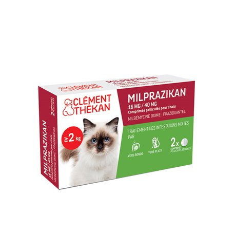 MILPRAZIKAN CHAT wormafdrijvend 2 tabletten