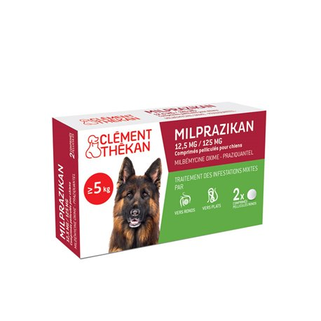 MILPRAZIKAN DOG wormafdrijvend 2 tabletten