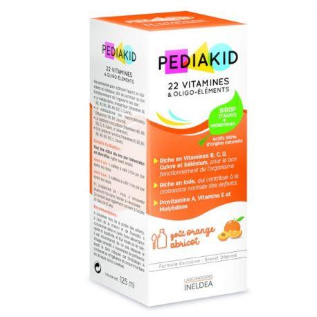 PEDIAKID 22 Vitamine und Spurenelemente 125ML SYRUP