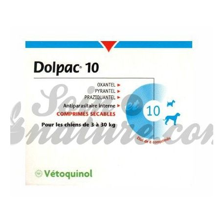 Dolpac dog wormer 10 kg 6 tablets