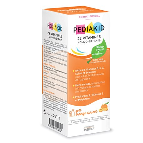 PEDIAKID 22 VITAMINES ET OLIGO-ELEMENTS SIROP 250ML