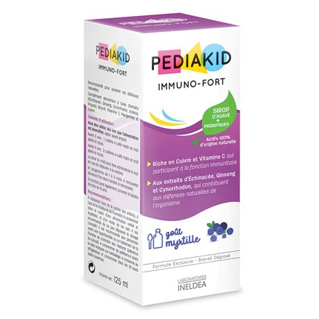 BLUEBERRY XAROP PEDIAKID immuno FORT 125ml