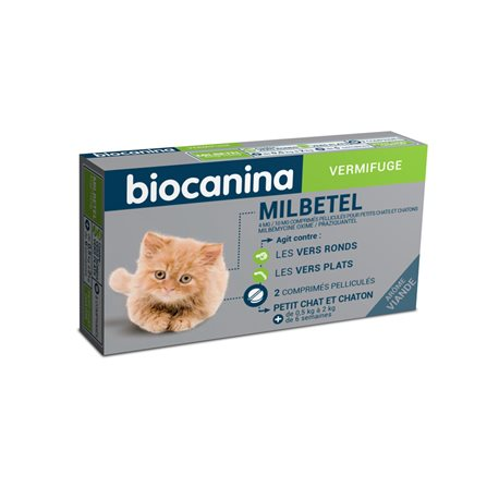 Kleines Kätzchen CATS MILPRAZIKAN Wurmkur 2 Tabletten