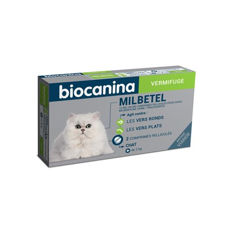 MILBETEL CHAT VERMIFUGE 2 TABLETS
