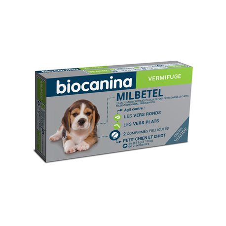 MILBETEL PUPPY DOG 2 TABLETS