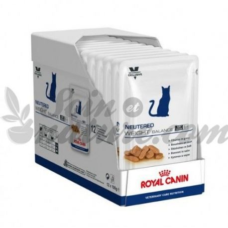 Royal Canin castrados VET cuidado do gato NEUT peso da escala 12 sacos de 100g
