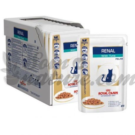Royal Canin RENAL CAT VETERINARY DIET THON 12 BAGS 85 G