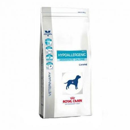Royal Canin VET CÃO HYPOALLERGENIC saco dieta de calorias MODERADA 14 kg