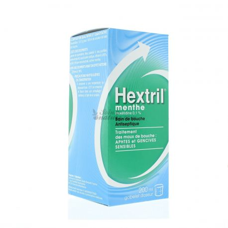 HEXTRIL antiseptic mouthwash with mint 200ml