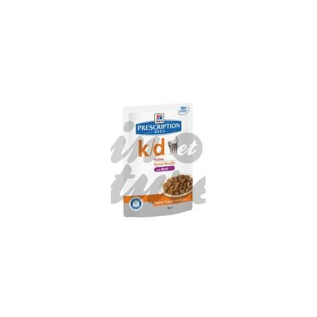 HILL'S SCIENCE PLAN PRESCRIPTION DIET FELINE K/D BOEUF 12 sachets de 85 g