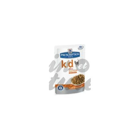 HILL'S SCIENCE PLAN PRESCRIPTION DIET FELINE K/D POULET 12 sachets de 85 g