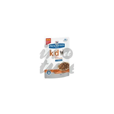 HILL'S SCIENCE PLAN PRESCRIPTION DIET FELINE K/D SAUMON 12 sachets de 85 g