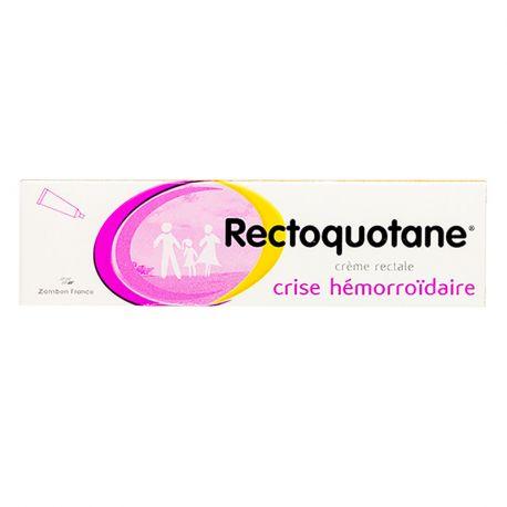 Rectoquotane crème rectale hémorroïdes