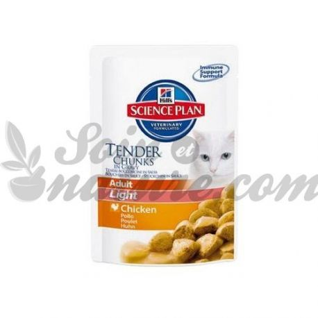 HILL'S SCIENCE PLAN FELINE ADULT LIGHT POULET 12 sachets de 85 g