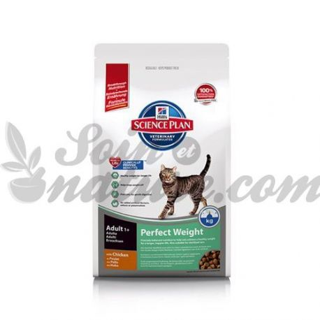 HILL'S SCIENCE PLAN FELINE ADULT PERFECT WEIGHT Poulet sac 3 kg