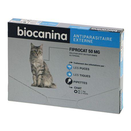 TICK-PUSS CHAT 50MG Biocanina 4 PIPETAS