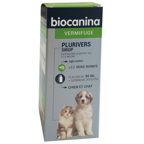 PLURIVERS Vermifuge sirop Chiots-Chatons BIOCANINA 90ML