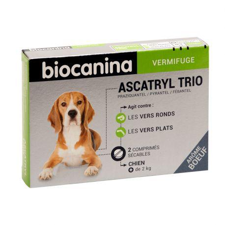 Biocanina ASCATRYL TRIO DO CÃO 2 comprimidos