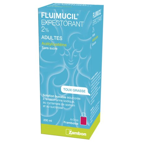 FLUIMUCIL 2% ADULTE SOLUTION BUVABLE 200ML