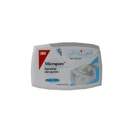 MICROPORE SPARADRAP MICROPOREUX 25MMX5M DEVIDOIRE BLANC