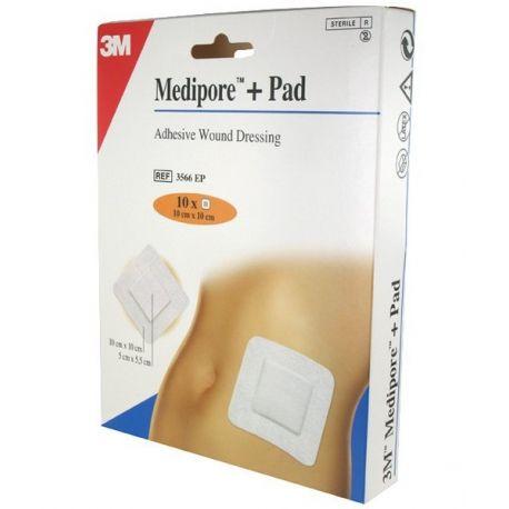 Medipore + almofada adesiva DRESSING 10x10cm STERIL BOX 10