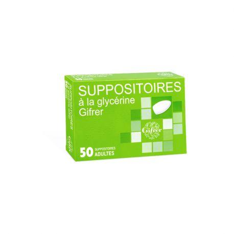 GLYCERINE SUPOSITOIRE ADULTE GIFRER BOÎTE DE 50