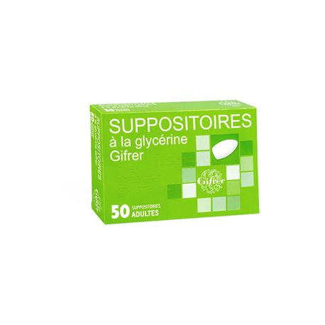 GLYCERINE SUPOSITOIRE ADULT GIFRER BOX 50