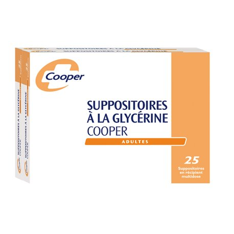 GLYCERINE SUPPOSITOIRE ADULTE COOPER BOÎTE DE 50