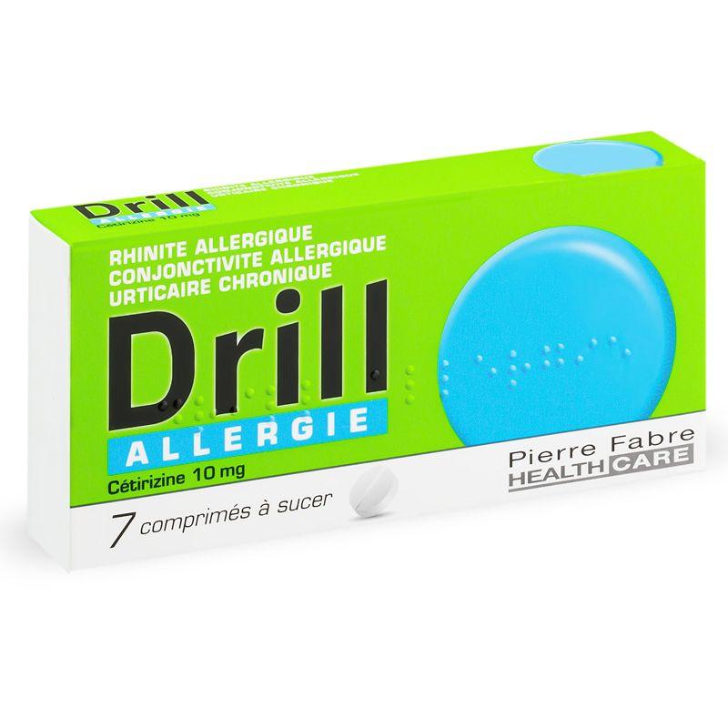 drill allergie cetirizine 10mg 7 comprimes. Black Bedroom Furniture Sets. Home Design Ideas