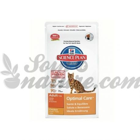 HILL'S SCIENCE PLAN FELINE ADULT OPTIMAL CARE POULET sac 2 kg