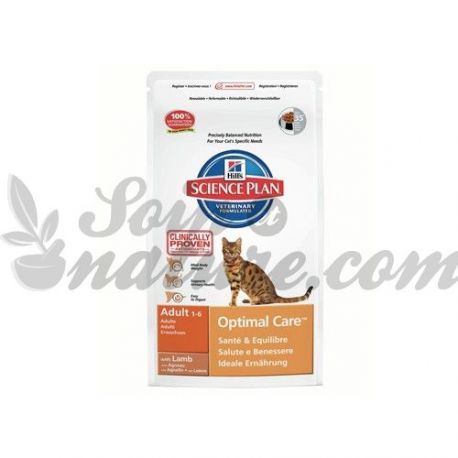 HILL'S SCIENCE PLAN FELINE ADULT OPTIMAL CARE AGNEAU sac 2 kg