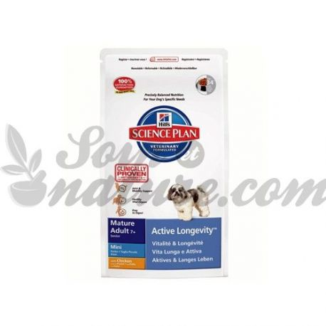 HILL'S SCIENCE PLAN CANINE MATURE MINI ACTIVE LONGEVITY poulet sac 1 kg