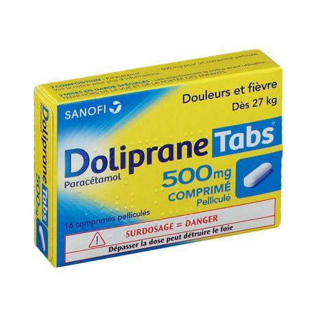 DOLIPRANE TABS 500MG 16 COMPRIMES