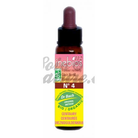 Bach Inebios Flower Remedies 10ml CENTAURY Knapweed