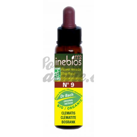 Bach Inebios Flower Remedies 10ml Clematis CLEMATIS
